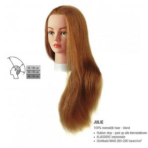 Sibel - Julie Blond Oefenhoofd - Natuurhaar - 40-60 cm