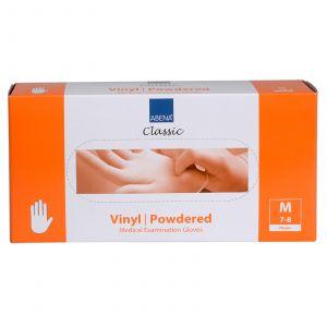 Abena - Vinyl Handschoenen - Wit - Gepoederd - Maat M - 100 Stuks