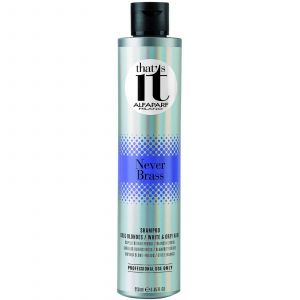 Alfaparf - That's It - Never Brass - Shampoo for Blondes, White & Grey Hair - 250 ml