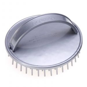 Denman - D6 Be-Bop Shampoo/Massage Bürste - Silber