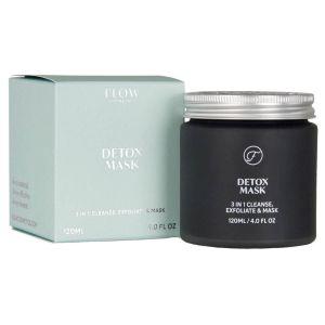 Flow - Detox Mask 3-in-1 - Reinigung & Peeling-Maske - 120 ml