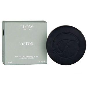 Flow - Detox Tea Tree & Charcoal Soap For Face & Body - 120 gr