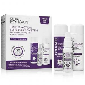 Foligain - Women - 3-Piece Trial Set for Fuller-Looking Hair