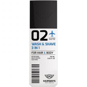 Hairways - 02 - Wash & Shave 3 In 1 - 100 ml