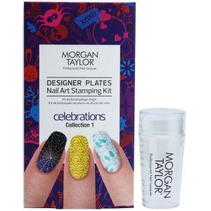 Morgan Taylor - Designer Plates Nail Art Stamping Kit - Celebrations Collection 1