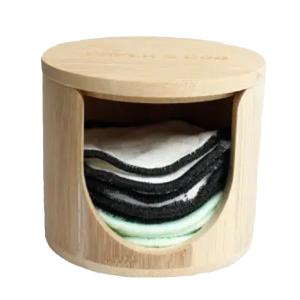 Paper & Boo - Bamboe Wasbare Wattenschijfjes Houder