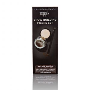 Toppik - Brow Building Fibers Set - Medium Brown