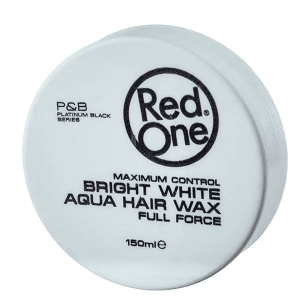 Red One - Bright White - Aqua Hair Wax - Full Force - 150 ml
