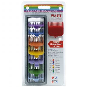 Wahl - Opzetkam - Type 1 - Set Plastic Gekleurd - Nr. 1 t/m 8